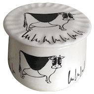 Levine Pottery Cow Butter Crock