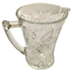 Nanben Cut Glass Daisy Pitcher