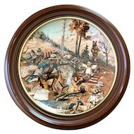 """Charles Russell """"When Ignorance is Bliss"""" Gorham Plate"""