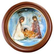 De Grazia Framed Nativity Plate