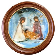 De Grazia Framed Nativity Plate