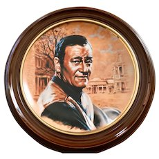 Framed John Wayne Plate by Susie Morton