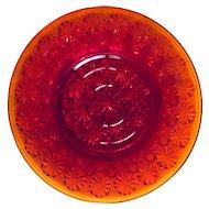 "L.E. Smith Amberina Daisy & Buttons 8 3/8"" Plate"