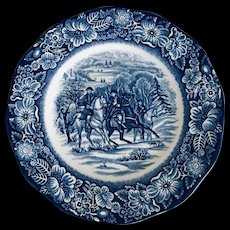 Staffordshire Liberty Blue 4 Plate Luncheon Set