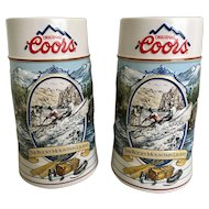 1992 Coors Rocky Mountain Legends Beer Stein Set