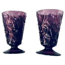Vintage Amethyst Wine Glass Set