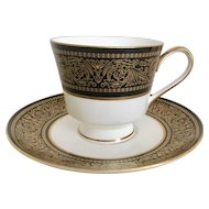 Mikasa Mount Holyoke Footed Cup & Saucer Set