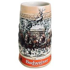 Budweiser 1987 Series C Holiday Stein