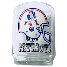 Vintage New England Patriots Cocktail Glass