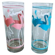 Libbey Flamingo Highball Glass Set