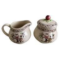Johnson Bros Sugar & Spice Creamer & Sugar Set