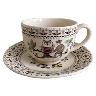 Johnson Bros Sugar & Spice Cup & Saucer Set