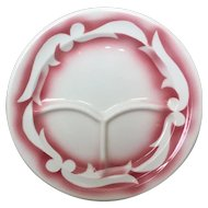 Jackson China Pink Airbrushed Grill Plate