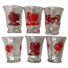 Libbey Rooster Juice Glass Set