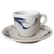 Mayer China Chalon  Demitasse Cup & Saucer