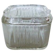 Federal Ribbed Refrigerator Glass