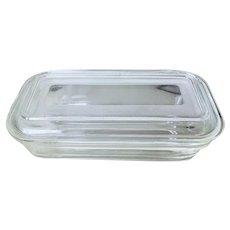 Vintage Glass Refrigerator Dish