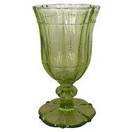 Vintage Green Lariat Wine Glass