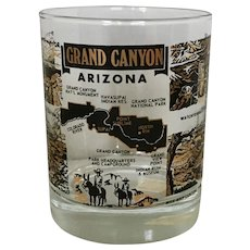 Fred Harvey Grand Canyon Arizona Glass Tumbler