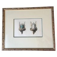 Bureau of Ethnology Mask of U'WANNAMI' Framed Colored Lithograph
