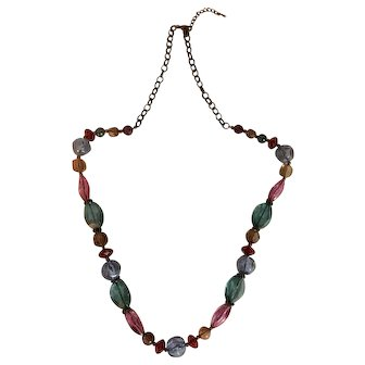 Colorful Plastic Bead Necklace