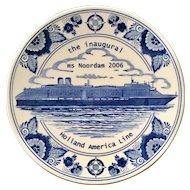 Norwegian Cruise Lines ms Noordam Inaugural Plate