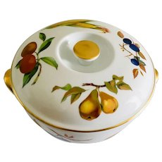 "Royal Worcester Evesham Gold 8 1/2"" Covered Casserole"