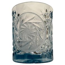 Fostoria Stowe Blue Double Old Fashioned Glass