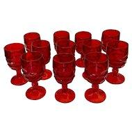 Viking Glass Georgian Ruby Wine Glass Set
