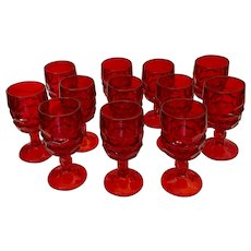 Viking Glass Georgian Ruby Wine Glass Set