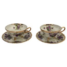 Royal Sealy Violets 3 Foot Cup & Saucer