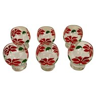 Poinsettia Holiday Glass Set