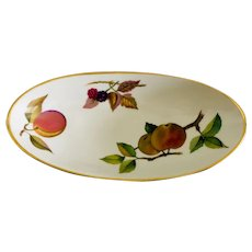 Royal Worcester Evesham Gold Pickle Dish