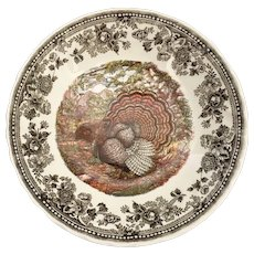 Queen's China Majestic Beauty Turkey Soup Bowl ~ Thanksgiving