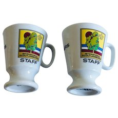1973 Boy Scout National Jamboree His & Her Staff Mug Set