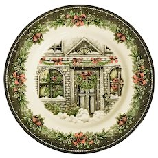 Royal Stafford Christmas Home Dinner Plate
