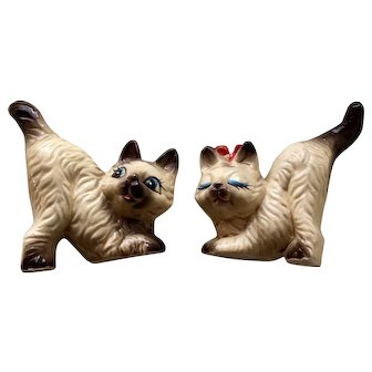 Vintage Japanese Cat Salt and Pepper Shakers
