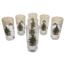 Spode Christmas Tree Glass Set