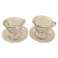 Heisey Old Colony 3390 Creamer & Sugar Set with Underplates
