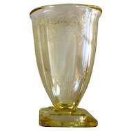 Indiana Glass Lorain Yellow Footed Tumbler
