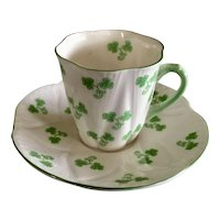 Shelley Shamrock Demitasse Cup & Saucer