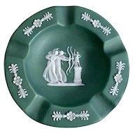 Wedgwood Sage Green Jasperware Ashtray