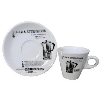 Bialetti Moka Express Demitasse Cup & Saucer Set of 3