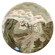 Vintage Mount Rushmore Multi-color Johnson Brothers Plate