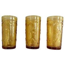 Indiana Glass Tiara Amber Juice Set