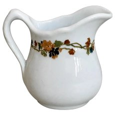 Carr China Floral Band Creamer Grafton WV