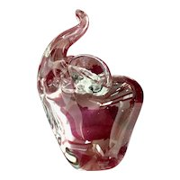 Vintage Clear Glass Elephant Paperweight