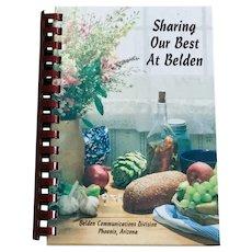 Sharing Our Best At Belden Cookbook