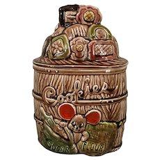 Vintage Mouse Cookie Jar Made in Japan