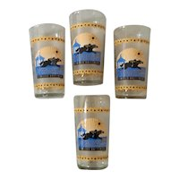 128th Preakness Glass Set of 4